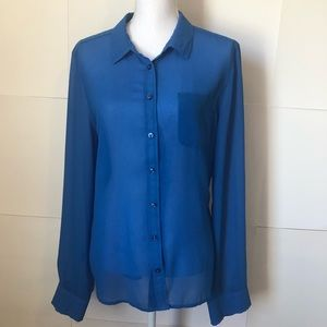 American Eagle blue button up womens XL